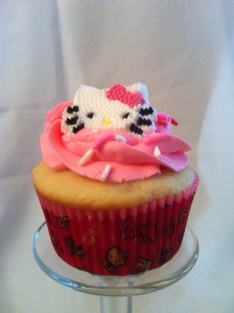 Vanilla Hello Kitty Cupcake