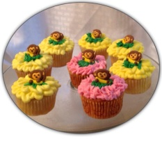 Monkey Lemon Cupcakes