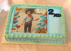 Baby 2nd Birthday cake