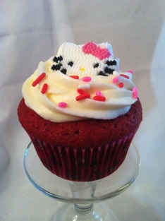 Red Velvet Hello kitty Cupcake